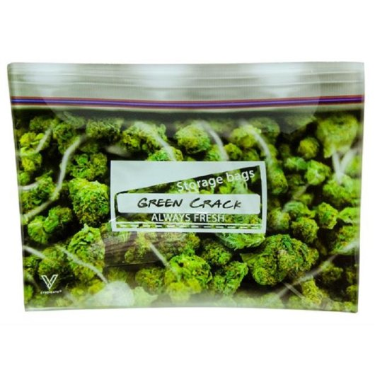 V-Syndicate - Glas Rolling Tray - Green Crack - Small