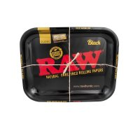 RAW - BLACK - Rolling Tray - Classic - Large